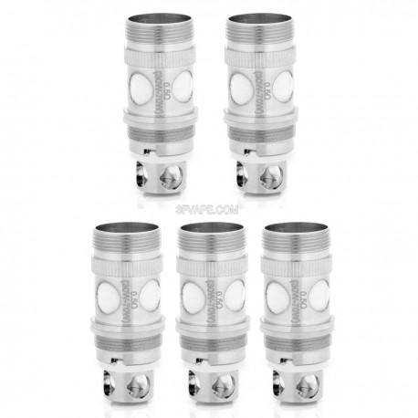 Authentic Playboy Vixen Replacement Coil Heads - Silver, 0.5 ohm (30~100W) (5 PCS)
