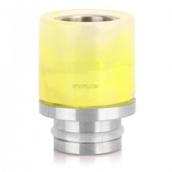 510 Drip Tip - Yellow, Turquoise + Stainless Steel, 20mm