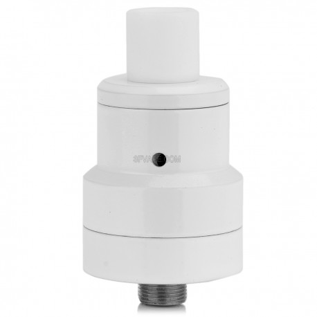 Le Magister Style RDA / RTA Rebuildable Dripping Atomizer - White, Stainless Steel, 22mm Diameter