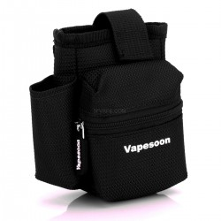 Authentic Vapesoon Protective Nylon Carrying Pouch Bag w/ carabiner for E-Cigarettes - Black