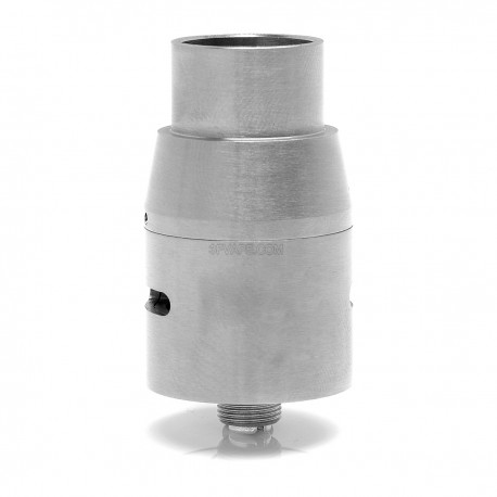 DOGE V2 STYLE RDA REBUILDABLE DRIPPING ATOMIZER - SILVER, STAINLESS STEEL, 22MM DIAMETER