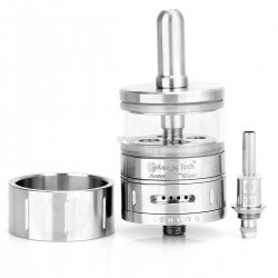 Authentic Kanger Aerotank Giant 510 BDC Clearomizer Kit - Silver + Translucent, Stainless Steel + Glass, 4.5mL, 1.8 Ohm