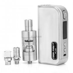 Authentic Innokin Coolfire IV Plus 70W 3300mAh VV / VW Box Mod + iSub Apex Starter Kit - Silver, 2~7.5V, 6~70W