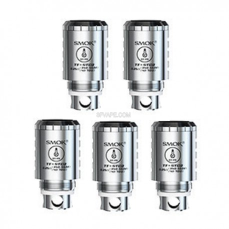 Authentic SMOKTech TF-STC2 Temperature Sensing Dual Coil Head for TFV4 / TFV4 Mini- Stainless Steel, 0.25 Ohm (5 PCS)
