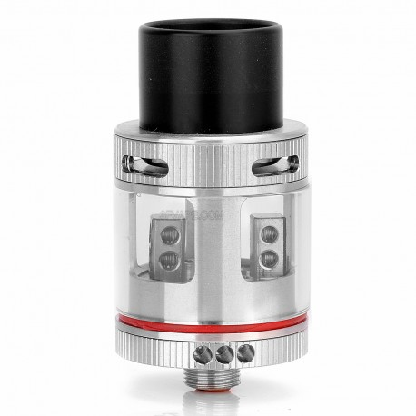 Authentic Air Force One RDA Rebuildable Dripping Atomizer - Silver + Transparent, Stainless Steel + Glass, 22mm Diameter