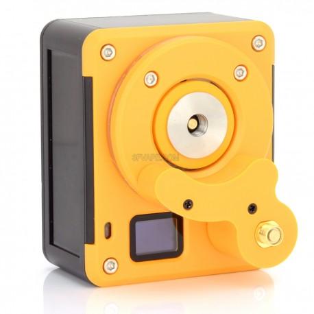 Authentic Pilot Vape Atomizer Combo Ohm Meter + Volt Meter Tester - Black + Yellow, 0.01~9.99 ohm / 0.3~9.99V, USB / 1 x 18650