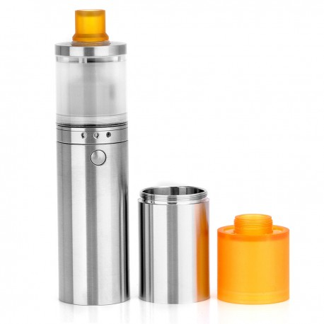 Atto Style Mechanical Mod + Pico Style RTA Rebuildable Tank Atomizer Kit - Silver, Stainless Steel, 3mL, 1 x 18650 / 18350