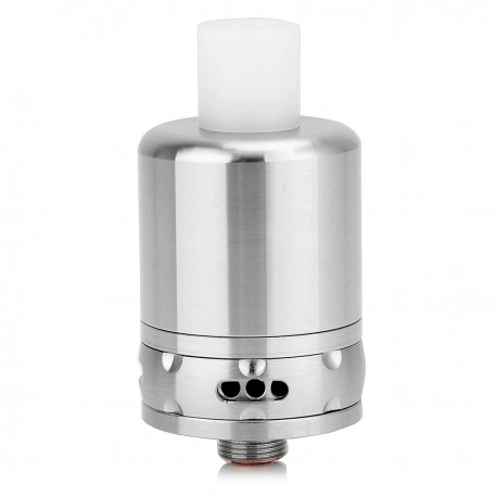 SnapDragon Style RDA Rebuildable Dripping Atomizer - Silver, 304 Stainless Steel, 22mm Diameter
