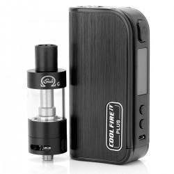 Authentic Innokin Coolfire IV Plus 70W 3300mAh VV / VW Box Mod + iSub G Starter Kit - Black, 2~7.5V, 6~70W