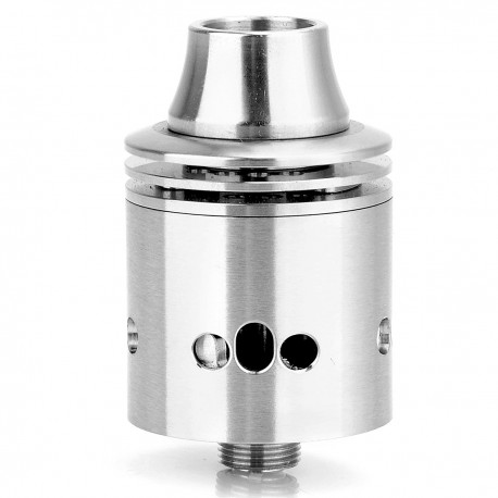 Indestructible Style RDA Rebuildable Dripping Atomizer - Silver, Stainless Steel, 22mm Diameter