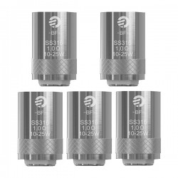 Authentic Joyetech BF SS316 Replacement Coil Heads For Cubis Tank - Silver, 1.0 Ohm (10~25W) (5 PCS)