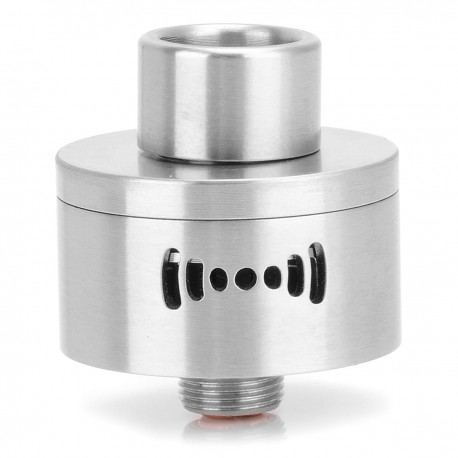 Wi-Fi Style RDA Rebuildable Dripping Atomizer - Silver, Stainless Steel, 22mm Diameter
