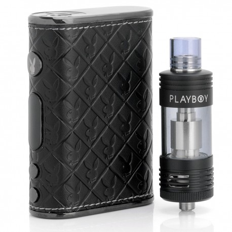 Authentic Playboy LUX 65W 4400mAh TC VW Variable Wattage Mod + VIXEN TC Tank Starter Kit - Black, 3~65W, 200~600'F