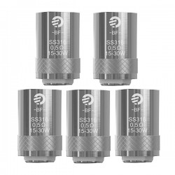 Authentic Joyetech BF SS316 Replacement Coil Heads For Cubis Tank - Silver, 0.5 Ohm (15~30W) (5 PCS)