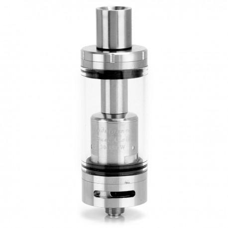Authentic Indulgence MuTank Sub Ohm Tank Clearomizer - Silver, Stainless Steel + Glass, 5mL, 0.3 Ohm, 22mm Diameter