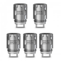 Authentic SmokTech Micro STC2 Stainless Steel Dual Core Coil Head - Silver, 0.25 Ohm (30~60W) (5 PCS)