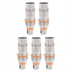 Authentic Aspire Triton Mini Replacement Clapton Coil Heads - Silver, 1.8 Ohm (13~16W) (5 PCS)