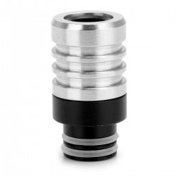 Sailing Style 510 Drip Tip - Silver + Black, Resin + Stainless Steel, 22.1mm