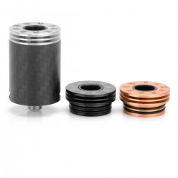Authentic Wotofo Freakshow RDA Rebuildable Dripping Atomizer - Black, Carbon Fibre + Stainless Steel, 22mm