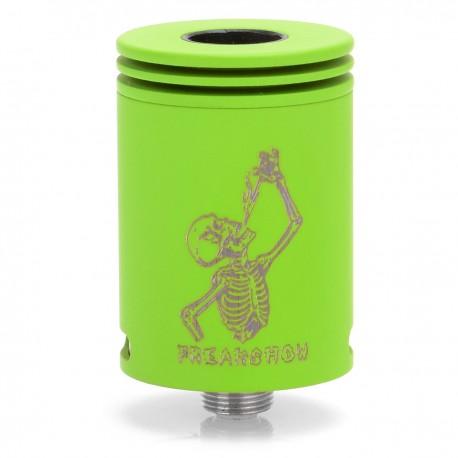 Authentic Wotofo Freakshow RDA Rebuildable Dripping Atomizer - Green, Stainless Steel, 22mm
