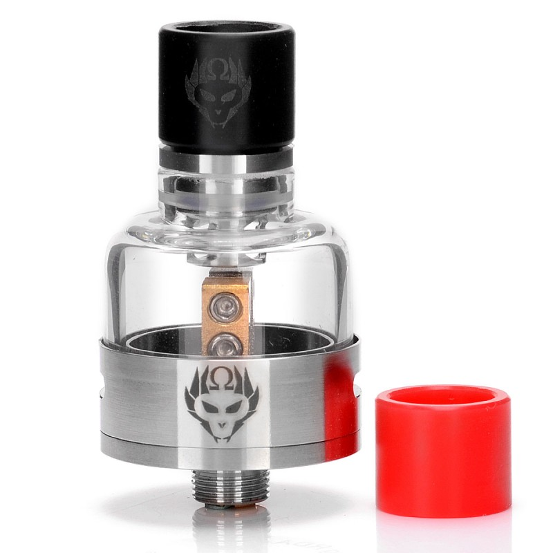 3FVape   Authentic Oumier Monkey King RDA Rebuildable Dripping Atomizer - Silver, 316 Stainless Steel + Glass, 22mm DiameterOriginal text