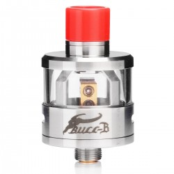 Authentic Oumier Bull-B RDA Rebuildable Dripping Atomizer - Silver, 316 Stainless Steel + Glass, 22mm Diameter