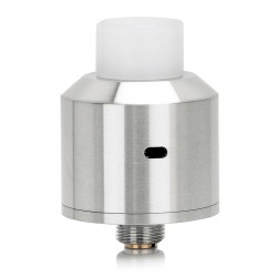 NarDA Style RDA Rebuildable Dripping Atomizer - Silver, 316 Stainless Steel, 22mm Diameter