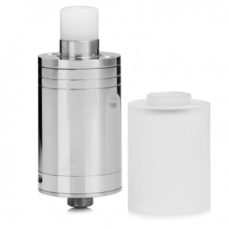 CloudOne Style RTA Rebuildable Tank Atomizer - Silver, 316 Stainless Steel, 3.7mL, 22mm Diameter