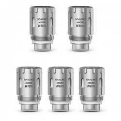 Authentic SMOKTech SMOK Micro TFV4 Micro Ni200 Coil Head - Silver, 0.1 Ohm (420~600'F) (5 PCS)