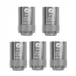 Authentic Joyetech SS316 Coil Head for eGo AIO - Silver, 0.6 Ohm (15~28W) (5 PCS)