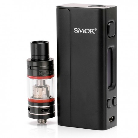 Authentic SmokTech SMOK R-Steam Nano One Kit TC VW Mod + Nano TFV4 Tank - Black, 1~80W, 2mL, 0.3 Ohm, 1 x 18650