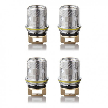Authentic Uwell Rafale Replacement Coil Heads - Silver, 0.5 Ohm, 316 Stainless Steel (4 PCS)