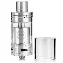 Authentic SMOKTech SMOK TF-RTA G4 Rebuildable Tank Atomizer - Silver, Stainless Steel + Glass, 4.5mL, 24.5mm Diameter