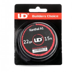 Authentic YouDe UD Kanthal A1 22 AWG Resistance Wire for RBA / RDA / RTA - Silver, 0.65mm Diameter, 5m Length