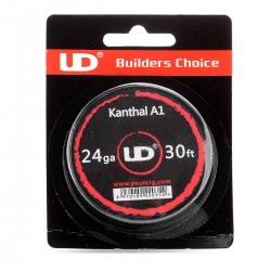 Authentic YouDe UD Kanthal A1 24 AWG Resistance Wire for RBA - 0.5mm Diameter, 10m Length, Resistance (MFG Rated): 6.95 Ohm
