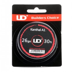 Authentic YouDe UD Kanthal A1 26 AWG Resistance Wire for RBA - 0.4mm Diameter, 10m Length, Resistance (MFG Rated): 11.3 Ohm