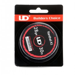 Authentic YouDe UD Kanthal A1 28 AWG Resistance Wire for RBA - 0.32mm Diameter, 10m Length, Resistance (MFG Rated):13.55 Ohm
