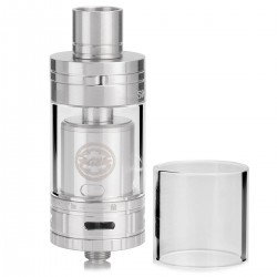 Authentic SMOKTech SMOK TF-RTA G2 Rebuildable Tank Atomizer - Silver, Stainless Steel + Glass, 4.5mL, 24.5mm Diameter