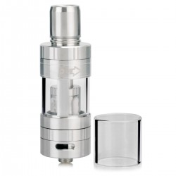 Authentic Pioneer4you iPV Pure X2 Coil Less Sub Ohm Tank - Silver, Stainless Steel + Glass, 3.5mL, 0.05 ohm, 24mm Diameter