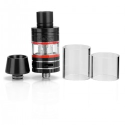 Authentic SMOKTech SMOK Micro TFV4 Sub Ohm Tank Clearomizer - Black, Stainless Steel + Glass, 2.5ml, 0.3 ohm (30~60W), 22mm