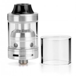 Authentic Sigelei Moonshot RDTA Rebuildable Dripping Tank Atomizer- Silver, 2mL, 22mm Diameter
