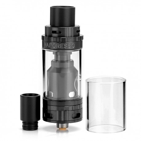Authentic Vaporesso Gemini RTA Rebuildable Tank Atomizer - Black, Stainless Steel + Glass, 3.5mL, 22mm Diameter