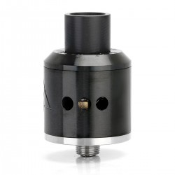 Goon Style RDA Rebuildable Dripping Atomizer w/ 510 Drip Tip - Black, Stainless Steel, 22mm Diameter