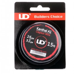 Authentic YouDe UD Kanthal A1 Clapton Heating Wire for Rebuildable Atomizer - Silver, 26 + 32 GA (15 feet)