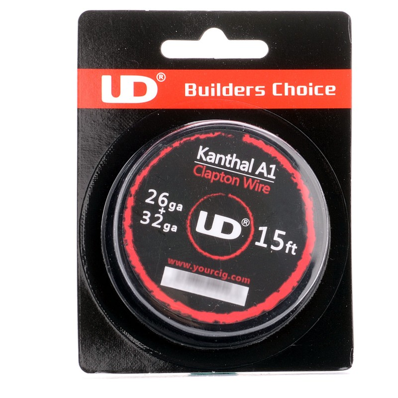 Authentic YouDe UD 26 + 32 GA Kanthal A1 Clapton Heating Wire