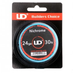 Authentic YouDe UD Nichrome Resistance Wire for Rebuildable Atomizers - Silver, 24 GA (30 feet)