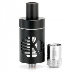 Authentic Kanger CLTANK 2.0 Clearomizer - Black, Stainless Steel, 2ml, 22mm Diameter