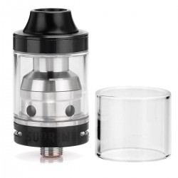 Authentic Sigelei Moonshot RDTA Rebuildable Dripping Tank Atomizer- Black, 2mL, 22mm Diameter