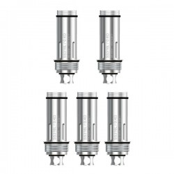 Authentic Aspire 316 Stainless Steel TC Coil Heads for Cleito Tank K4 Starter Kit -Silver, 0.4 ohm (55~65W / 450~530'F) (5 PCS)