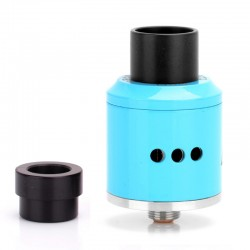 Goon Style RDA Rebuildable Dripping Atomizer w/ Wide Bore Drip - Blue, Stainless Steel, 22mm Diameter